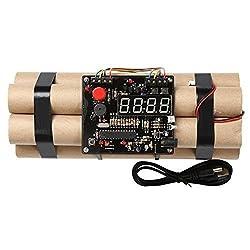 Novelty Defusable Bomb Alarm Clock / Bomb-like Alarm Clock