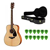 Yamaha FG800 Solid Top Acoustic Guitar (Natural) with Knox Hard Case & Picks