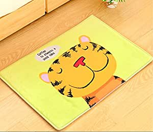 Yellow tiger door mat kitchen bathroom mat carpet bath mats for home decoration - Yellow kitchen floor mats ...