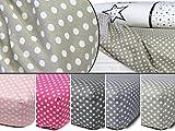 fest gewebtes Spannbetttuch für Kinder - kindgerechtes Design mit Punkten