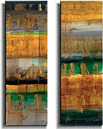 The World as We Know it I & II by Lanie Loreth 2-pc Premium Stretched Canvas Set (Ready-to-Hang)