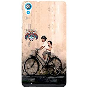 HTC Desire 820 Back cover - Bicycle Ride Designer cases