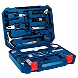 NEW Bosch All-in-One Metal 108 Piece Hand Tool Kit Screw Bits Hammer Wrench, etc (Color: Multi)