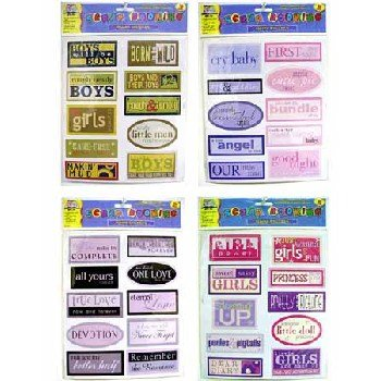 10-Piece Jumbo Scrapbooking Stickers - Case Pack 48 SKU-PAS251886