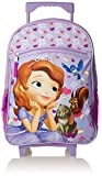 Fast Forward Little Girls' Sophia The First Roller Backpack, Purple/White, 16x12x5