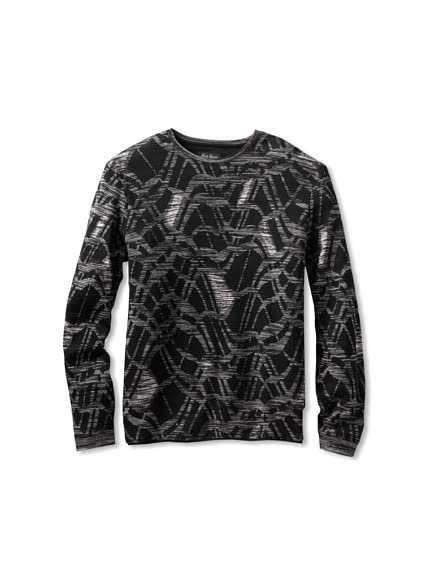 Jhane Barnes Men's Abstract Knit Shirt