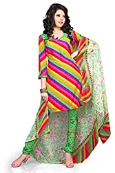 Variation Women's Multi-Coloured Crepe Unstiched Dress Material (VD14274)