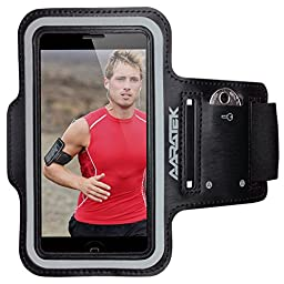 AARATEK Pro Sport Armband for iPhone SE, 5, 5s, 5c, 4, 4s, iPods... (Black) - Best for running, workouts, cycling, fitness, or any activity outside or in the gym!