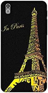 The Racoon Lean Love in Paris hard plastic printed back case / cover for HTC Desire 816G