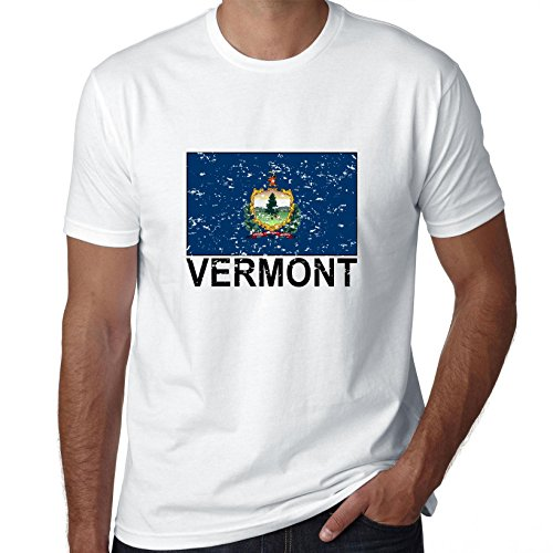 Vermont State Flag - Special Vintage Edition Men's T-Shirt