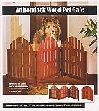 3 SECTION ADJUSTABLE FOLDING WOODEN ADIRONDACK PET GATE - WALNUT