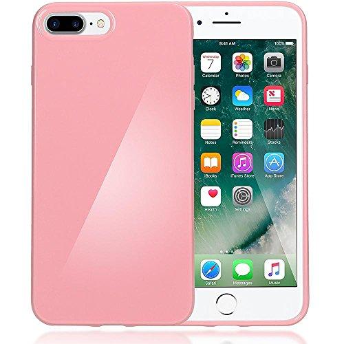 delightable24 Protezione Cover Case in Silicone TPU Jelly per Smartphone APPLE IPHONE 7 PLUS - Rosa