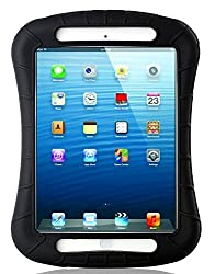 iXCC ® Shockproof Silicone Case Cover for iPad Mini, Mini 2, Mini 3, Extreme Heavy Duty [Drop Proof, Kids Proof, Shock Proof, Anti slip] High Quality Rubber Soft Gel Material Offers Robust Protection for Kids, Baby, Children, Boys and Girls [Black]
