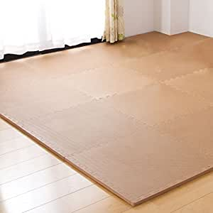 極厚20mm 3畳用 16枚組 ジョイントマット 大判60cm 床暖房対応 ノンホルムアルデヒド 単色 モカ 18700005 MK