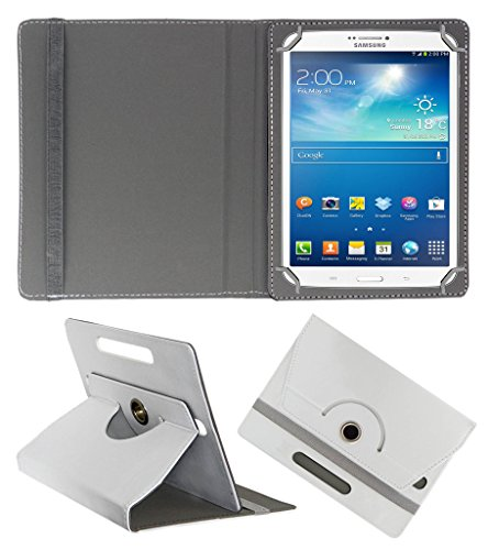 Acm Rotating 360° Leather Flip Case For Samsung Galaxy Tab 3 T311 Tablet Cover Stand White  available at amazon for Rs.159