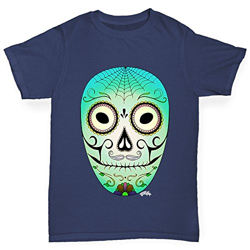 Twisted Envy Boy's Day of the Dead Mask Organic Cotton T-Shirt