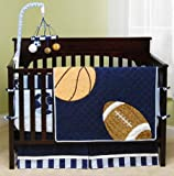 Mod Pod Pop Sport 4-Piece Crib Bedding Set