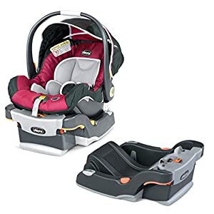 Chicco KeyFit 30 Infant Car Seat/Base with Extra Car Seat Base, Aster