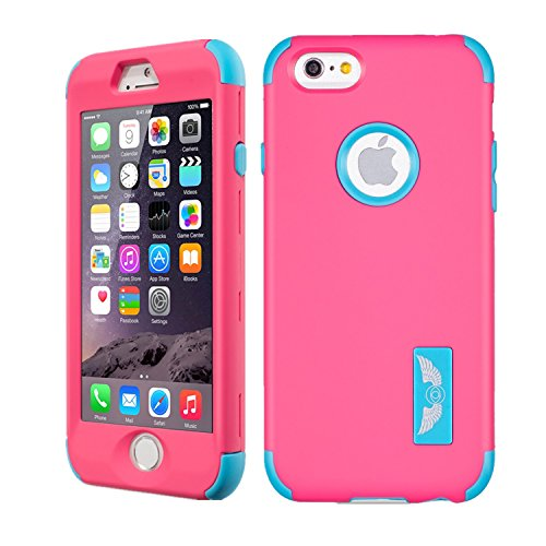 iPhone 6s Case, Asstar Colorful Hybrid Hard PC+ Soft Silicone threelayers Protective Bumper Anti-Scratch&Skid-proof, Dual-Layer Slim Cover case for iPhone 6s/6 [4.7inch] (Purple blue) (Mixed Media Iphone 6 Case compare prices)