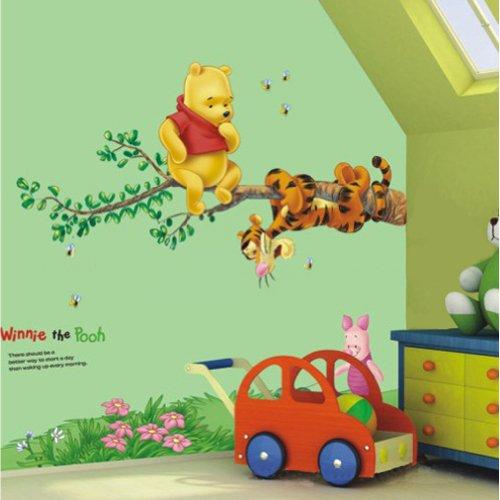 Restly (TM) Disney Winnie Camera dei Bambini Pooh Cartoon Piede Wall Stickers Linea Decor