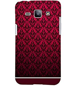 PrintDhaba RED PATTERN D-6326 Back Case Cover for SAMSUNG GALAXY J1 (Multi-Coloured)