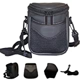 Genuine/Original iSOUL Digital SLR Camera Bag Shoulder Holster Carry Case Waterproof & Light Weight Black Super Zoom Case for Nikon SLR Fuji FUJIFILM FinePix Canon SL260,SL300,S8400,S8200,S6800,S4800,S4500,Canon SX510 CX500 SX50 IS,Panasonic LUMIX LZ20 L