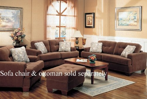 Blog not found for Coaster sectional sofa with button tufted design brown microfiber
