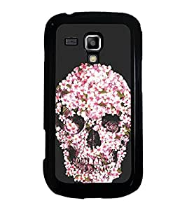 Flower Skull 2D Hard Polycarbonate Designer Back Case Cover for Samsung Galaxy S Duos 2 S7582 :: Samsung Galaxy S Duos II