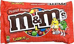M&M's Peanut Butter Candy, 18.4-Ounce Packages (Pack of 4)