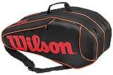 Wilson(ウイルソン) テニス ラケットバッグ バーン チーム 6本収納可能 ブラック×オレンジ WRZ854506