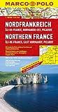 MARCO POLO Karte Nordfrankreich, Ile-de-France, Normandie-Ost, Picardie