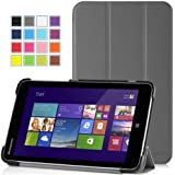"""MoKo Lenovo MIIX 2 Case - Ultra Slim Lightweight Smart-shell Stand Cover Case for Lenovo MIIX 2 8 """" Inch Windows 8.1 Android Tablet, GRAY"""