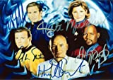 Star Trek 5 Captains Signed Autographed Reprint Photo 10x8