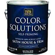 - CS43T0705-16 Color Solutions Latex Satin Self-Priming Exterior House And Trim Paint