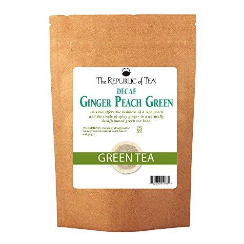 The Republic Of Tea Decaf Ginger Peach Green Tea, 250 Tea Bags