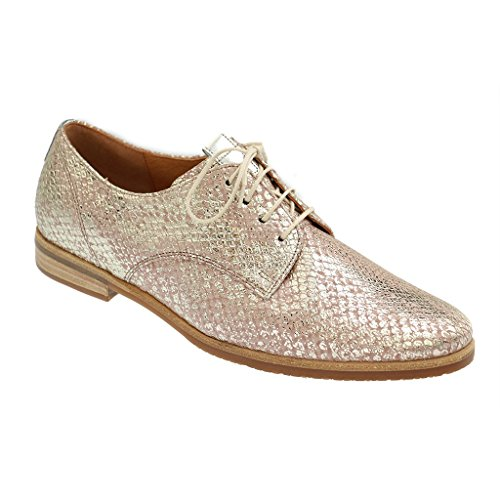 GABOR SHOES COMFORT Womens Derby Brogues, color:metallic;size:6.5 UK