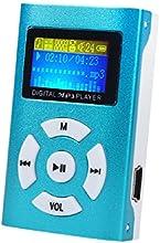 Malloom® USB Prise en charge de l'écran LCD Mini Lecteur MP3 32 Go Micro SD TF (Bleu)