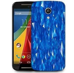Snoogg Blue Glasses Designer Protective Phone Back Case Cover For Motorola G 2nd Genration / Moto G 2nd Gen