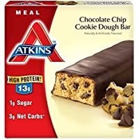 6-Pack Atkins Meal Bar Chocolate Chip Cookie Dough 5 Bars