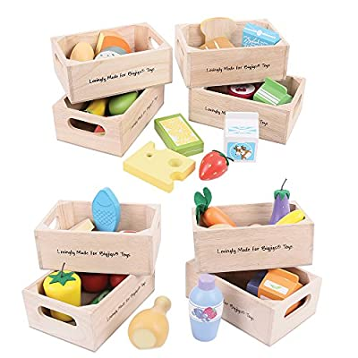 Bigjigs Toys Healthy Eating Food Set