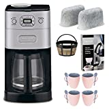 Cuisinart-DGB-650BC-Grind-and-Brew-Thermal-10-Cup-Automatic-Coffeemaker-Brushed-Metal-Replacement-Water-Filters-2-Pack-Home-Activated-Coffee-Espresso-Descaler-Knox-16oz-Mug-With-Spoon-4-Pack