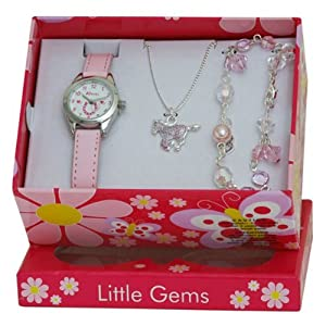 Ravel Children's Jewellery Set: Little Gems Little Pony Watch, Charm Bracelet, Little Pony Necklace in Presentation Box