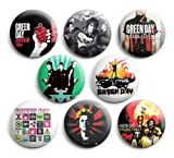 Green Day Set 2 Pinback Buttons 8Pcs 1.25 inch Best For Jacket,T-Shirts
