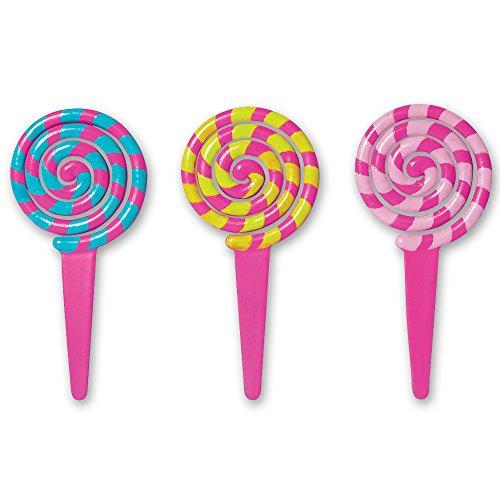 DecoPac Lollipop DecoPic Cupcake Picks (12 Count)