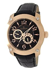 Le Chateau Men's 5425MAUTO_BLK Cautiva Collection See-Thru Automatic Rose-Gold Watch