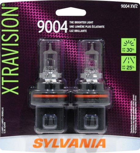 Sylvania 9004 Xv Xtravision Halogen Headlight Bulb (Low/High Beam), (Pack Of 2)