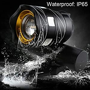 Bike Light,Bicycle Front & Tail Light, Rechargeable Bike Headlight Front & Rear Light, Zoomable 600 Lumen Xm-l T6 Led Bicycle Light, IPX5, Easy to Install for Men Women Kids Road Mountain Cycling