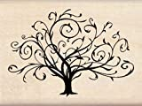 Inkadinkado Wood Stamp, Flourished Fall Tree image