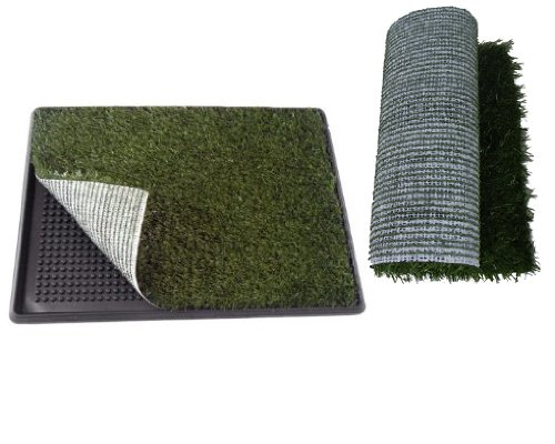 """Indoor Home Pet Park Dog Trainning Pad Pet Potty 25.5"""" X 20"""" X 2"""" With A Replacement Grass Mat front-907977"""