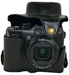 """MegaGear """"Ever Ready"""" Protective Black Leather Camera Case, Bag for Canon PowerShot G1X , G1 X"""